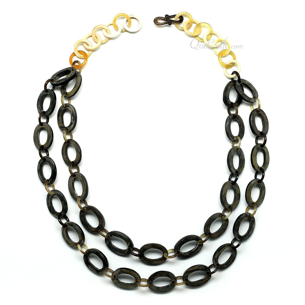 Horn Chain Necklace #11538 - HORN.JEWELRY by QueCraft