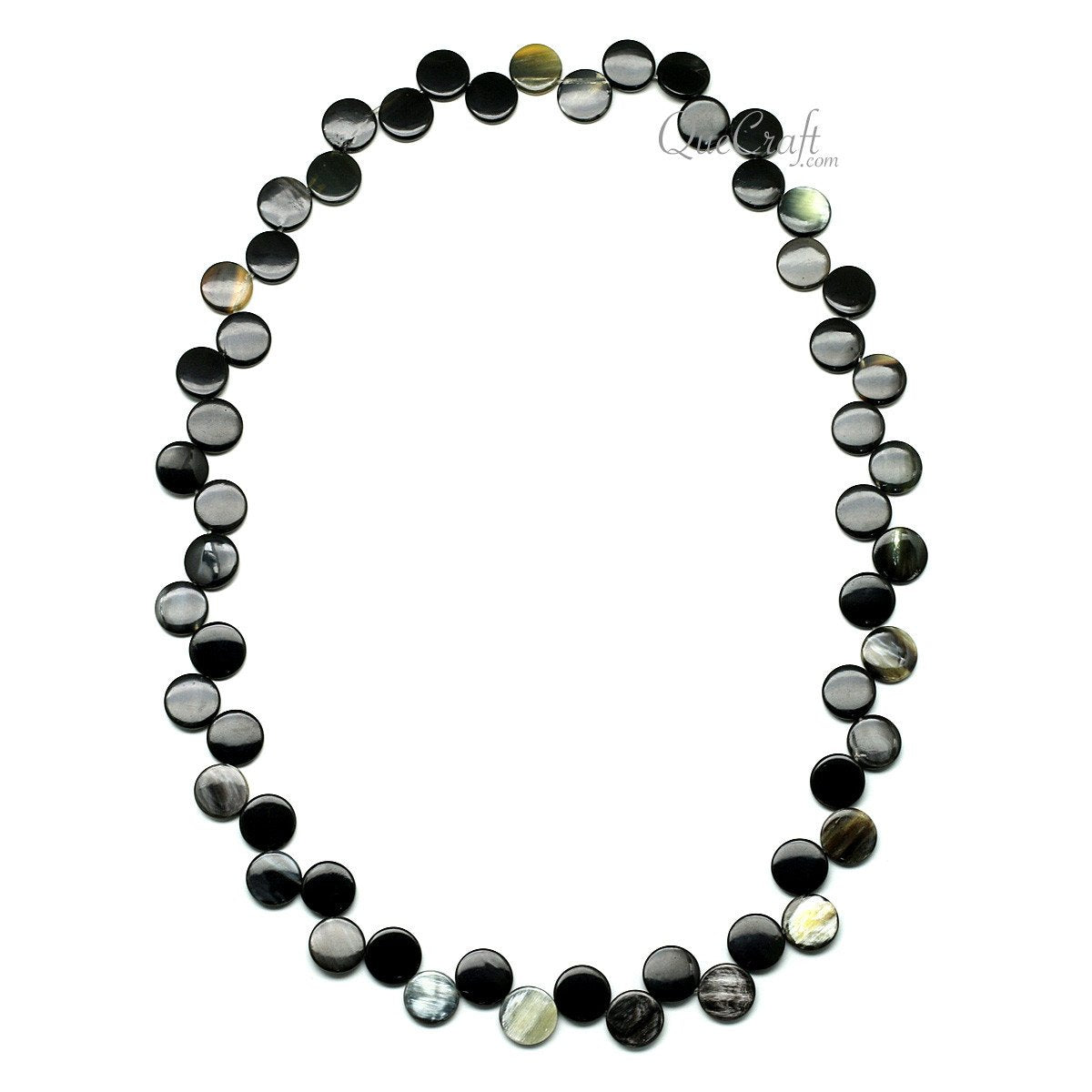 Horn Beaded Necklace #11808 - HORN.JEWELRY by QueCraft