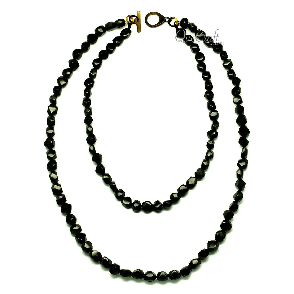 Horn Beaded Necklace #12922 - HORN.JEWELRY by QueCraft