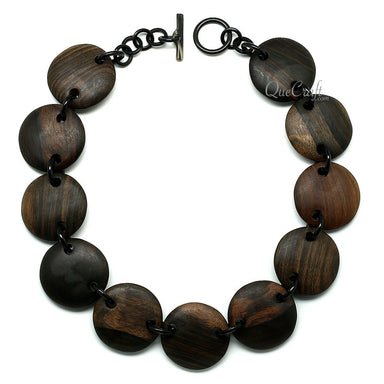 Ebony & Horn Chain Necklace #11822 - HORN.JEWELRY