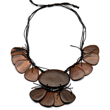 Ebony Chain Necklace #13598 - HORN.JEWELRY