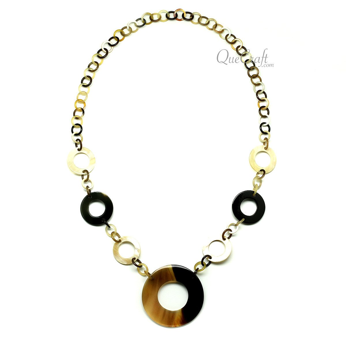Horn Chain Necklace #10082 - HORN.JEWELRY