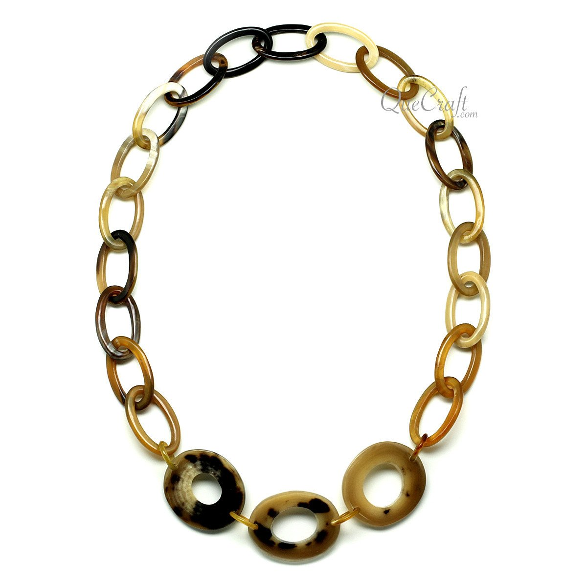 Horn Chain Necklace #10094 - HORN.JEWELRY by QueCraft