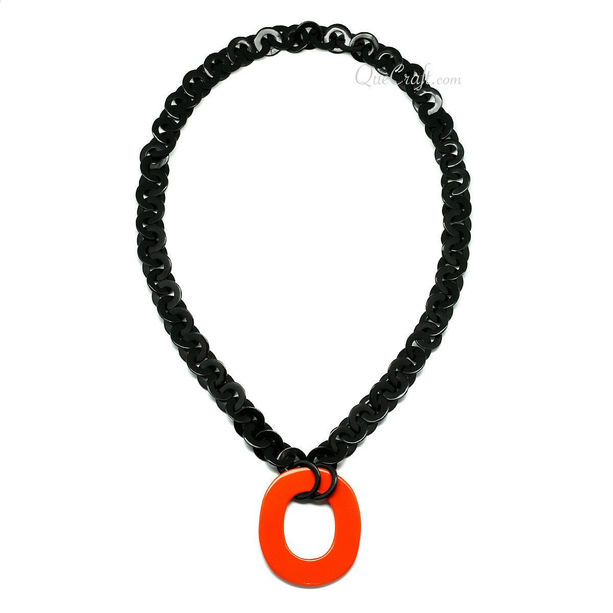 Horn & Lacquer Chain Necklace #11534 - HORN.JEWELRY by QueCraft