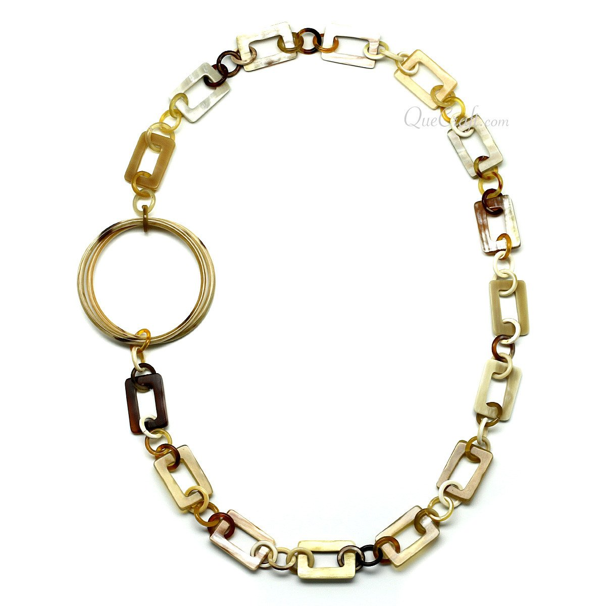 Horn Chain Necklace #11654 - HORN.JEWELRY by QueCraft