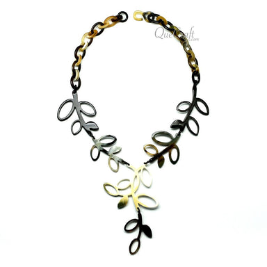Horn Chain Necklace #11738 - HORN.JEWELRY by QueCraft
