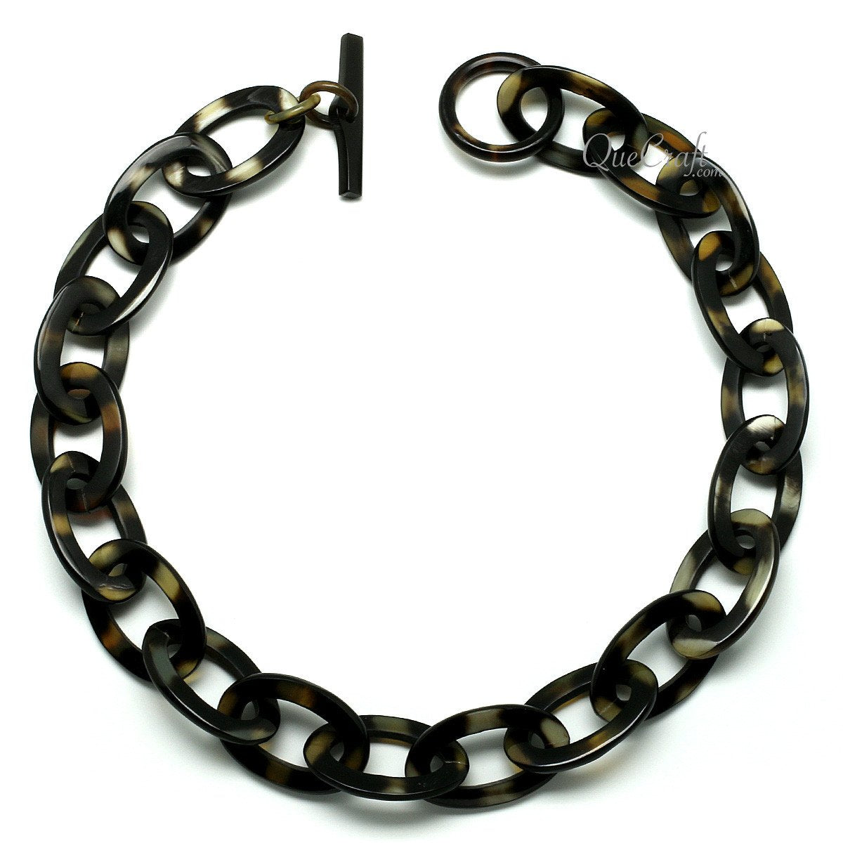 Horn Chain Necklace #11784 - HORN.JEWELRY by QueCraft