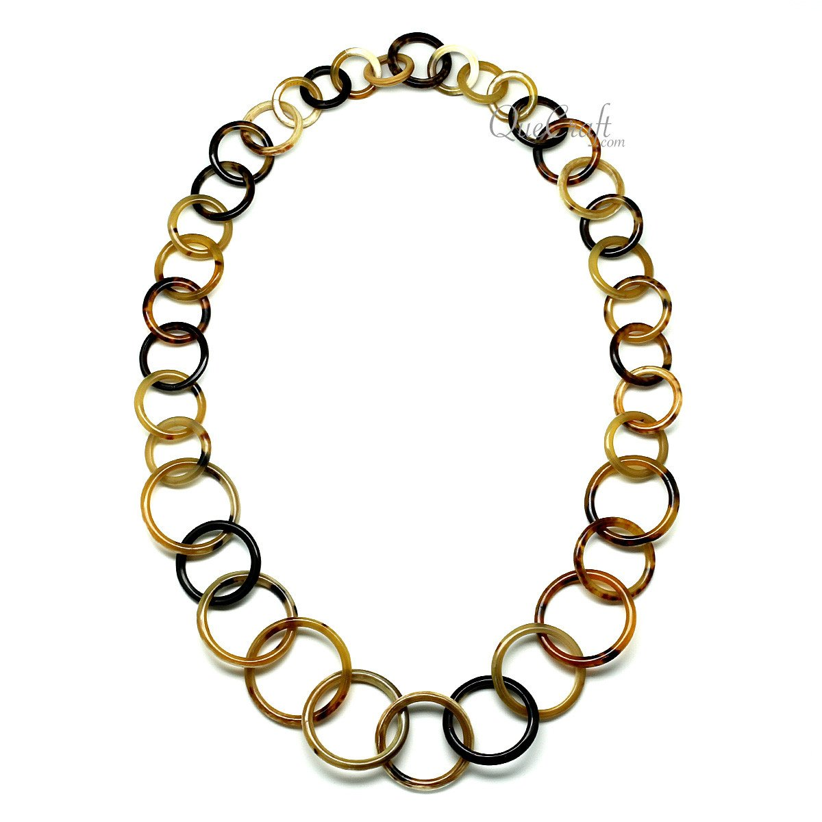 Horn Chain Necklace #11809 - HORN.JEWELRY by QueCraft