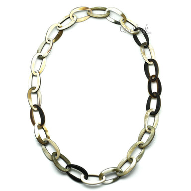 Horn Chain Necklace #11820 - HORN.JEWELRY by QueCraft