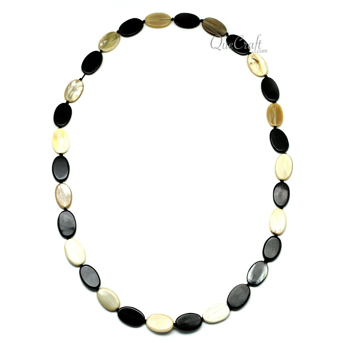 Horn Beaded Necklace #11893 - HORN.JEWELRY by QueCraft