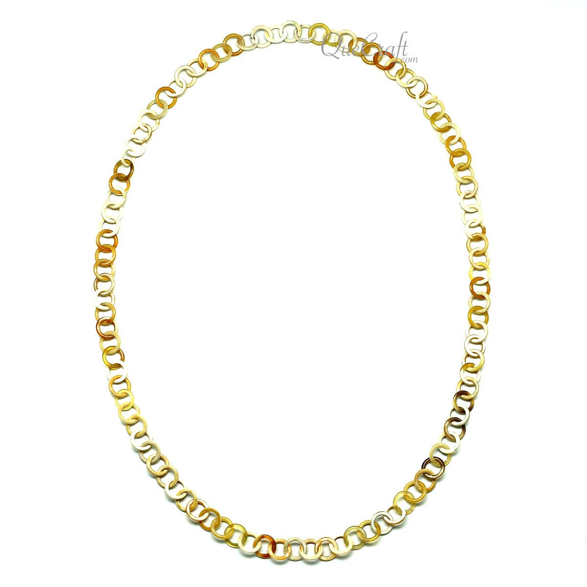 Horn Chain Necklace #11914 - HORN.JEWELRY by QueCraft