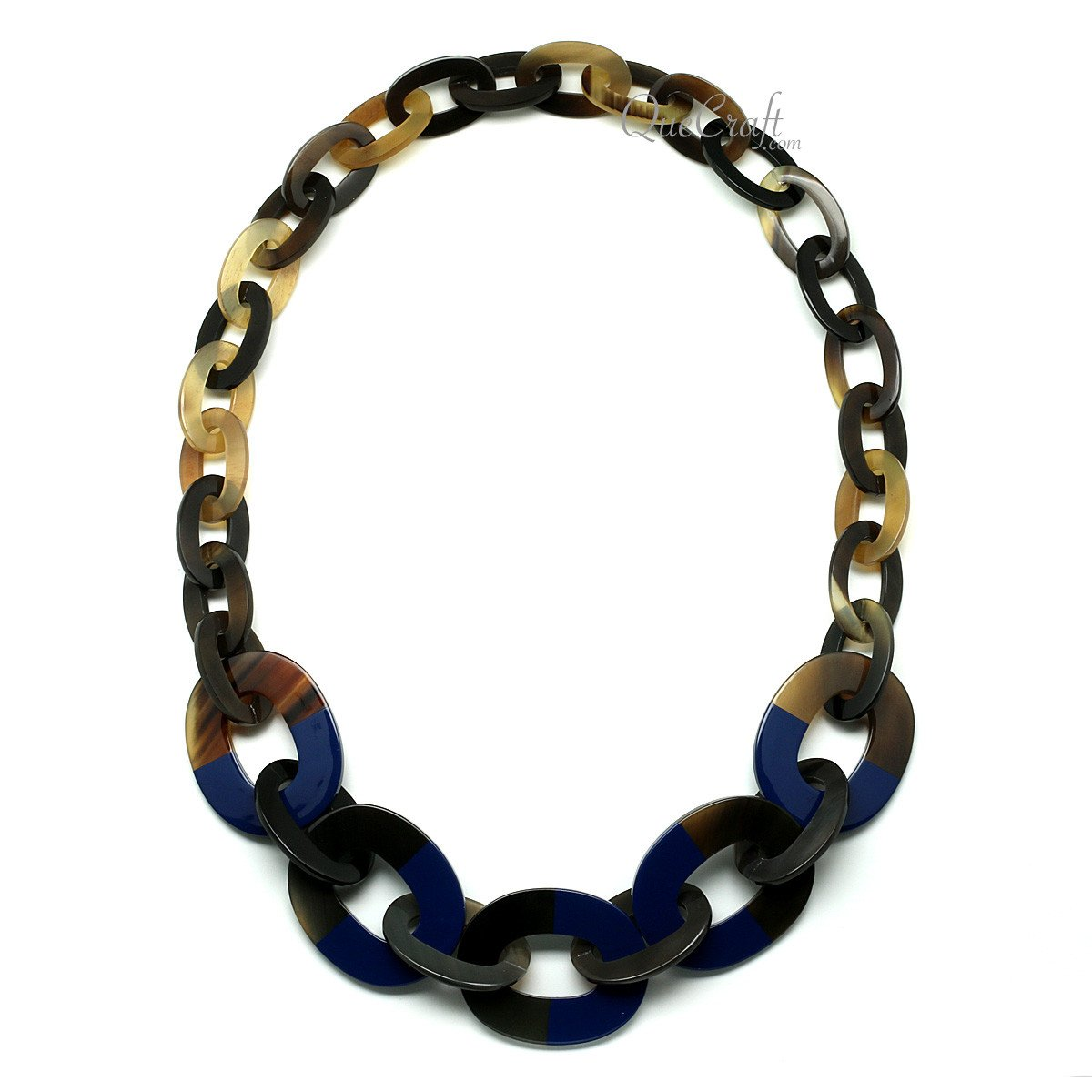Horn & Lacquer Chain Necklace #11982 - HORN.JEWELRY by QueCraft