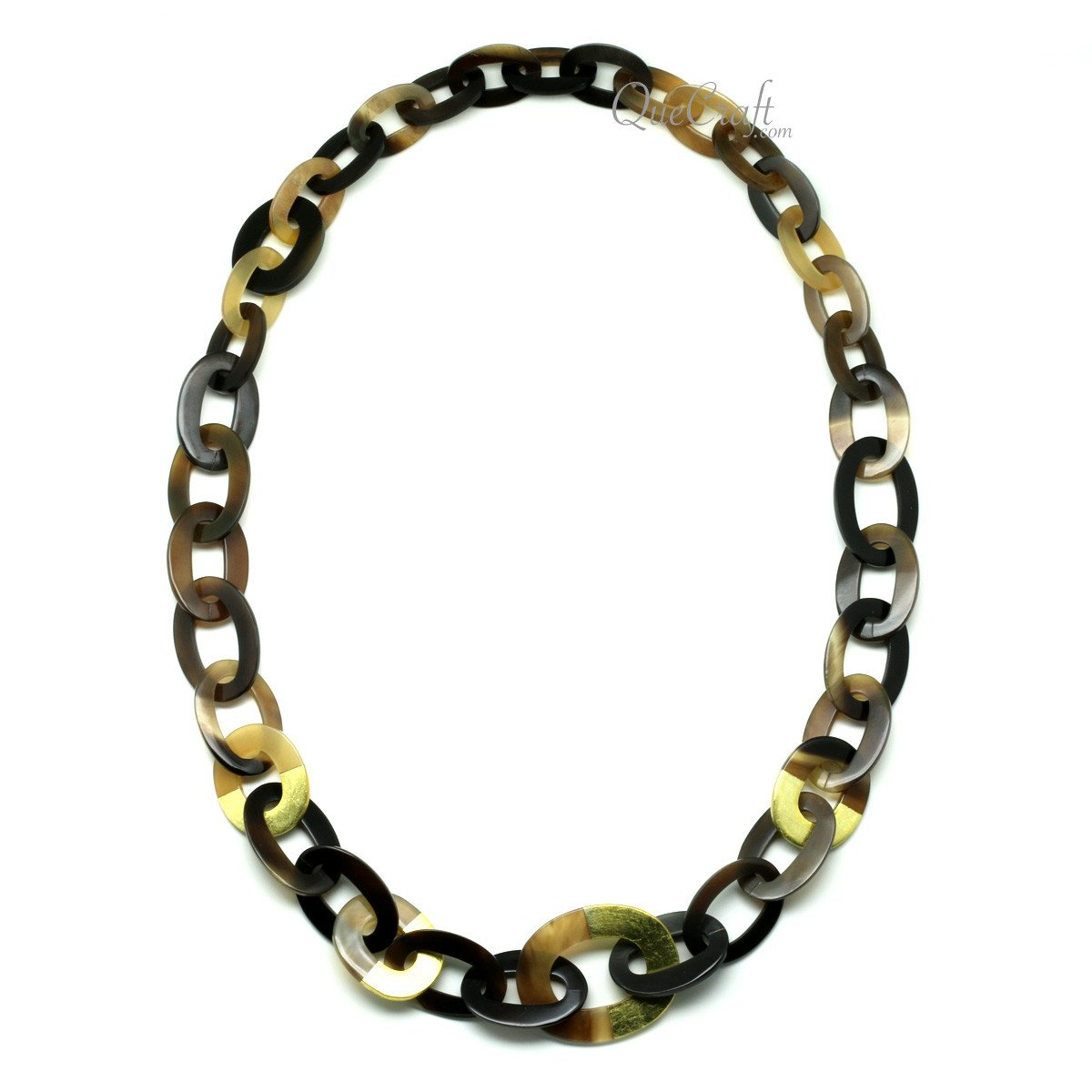 Horn & Lacquer Chain Necklace #11984 - HORN.JEWELRY
