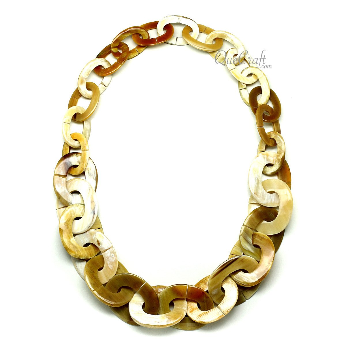 Horn Chain Necklace #12057 - HORN.JEWELRY by QueCraft