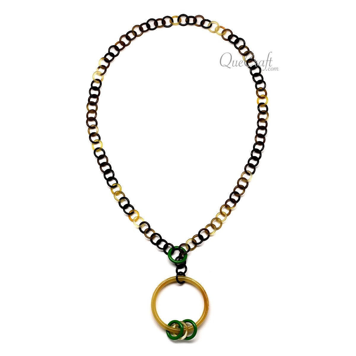 Horn & Lacquer Chain Necklace #12389 - HORN.JEWELRY