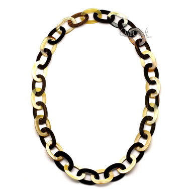 Ebony & Horn Chain Necklace #12397 - HORN.JEWELRY
