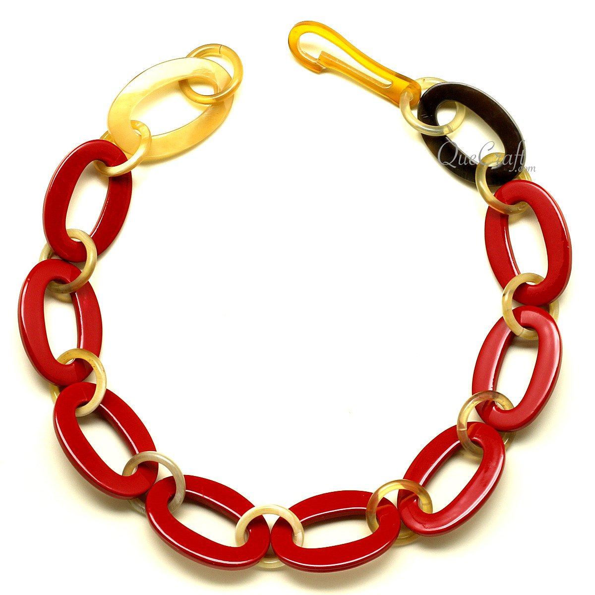 Horn & Lacquer Chain Necklace #12610 - HORN.JEWELRY