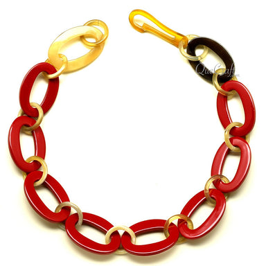 Horn & Lacquer Chain Necklace - Q12610