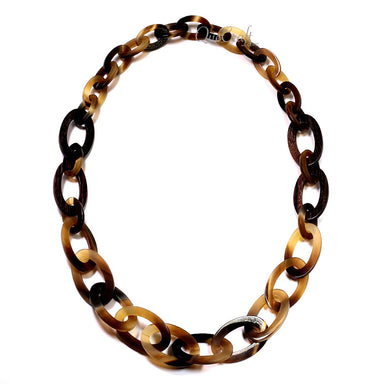 Ebony & Horn Chain Necklace #12700 - HORN.JEWELRY