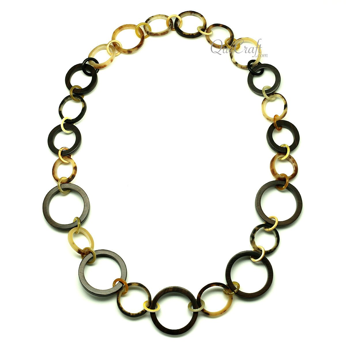 Ebony & Horn Chain Necklace #12811 - HORN.JEWELRY