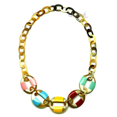 Horn & Lacquer Chain Necklace - Q12847