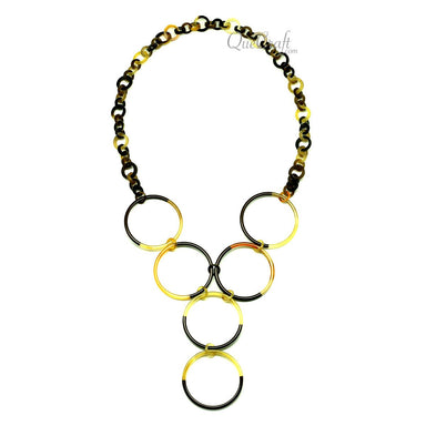 Horn & Lacquer Chain Necklace - Q12924
