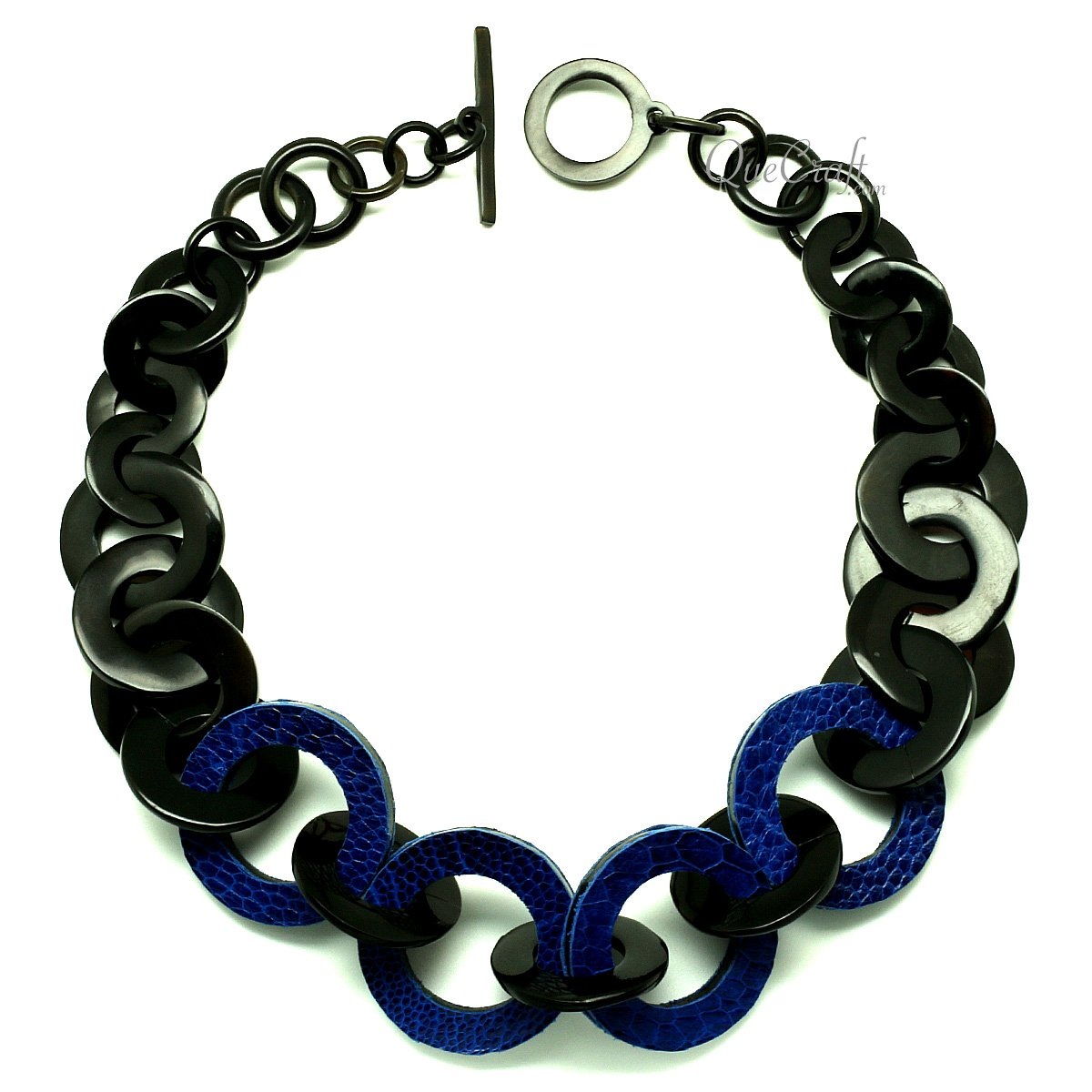 Horn & Leather Chain Necklace #12938 - HORN.JEWELRY
