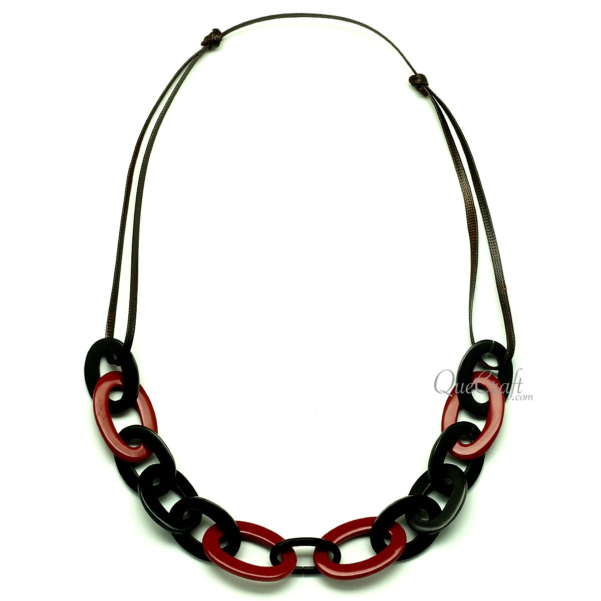 Horn & Lacquer String Necklace #12941 - HORN.JEWELRY