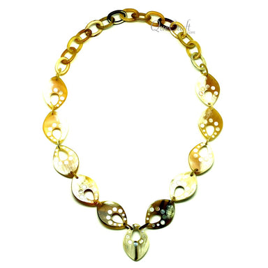 Horn & Shell Chain Necklace #12944 - HORN.JEWELRY