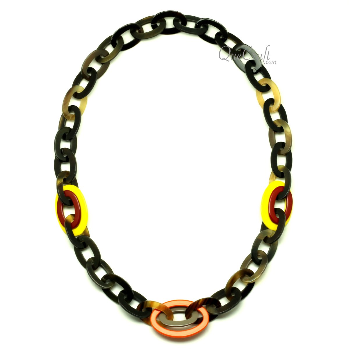 Horn & Lacquer Chain Necklace - Q13064