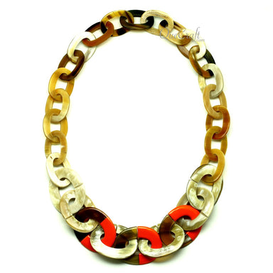 Horn & Lacquer Chain Necklace - Q13280