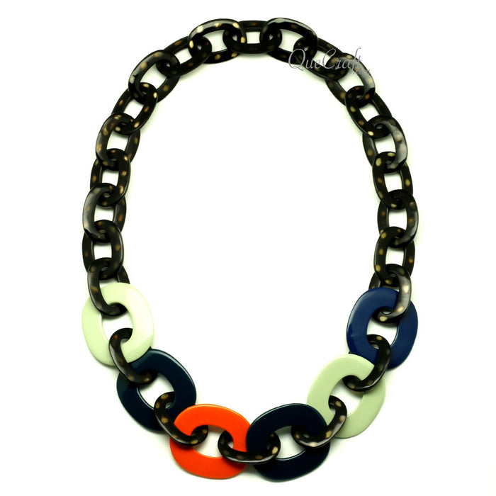 Horn & Lacquer Chain Necklace - Q13281
