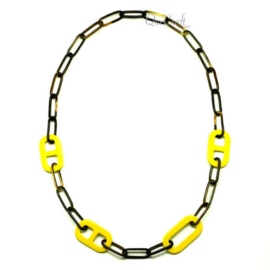Horn & Lacquer Chain Necklace #13288 - HORN.JEWELRY