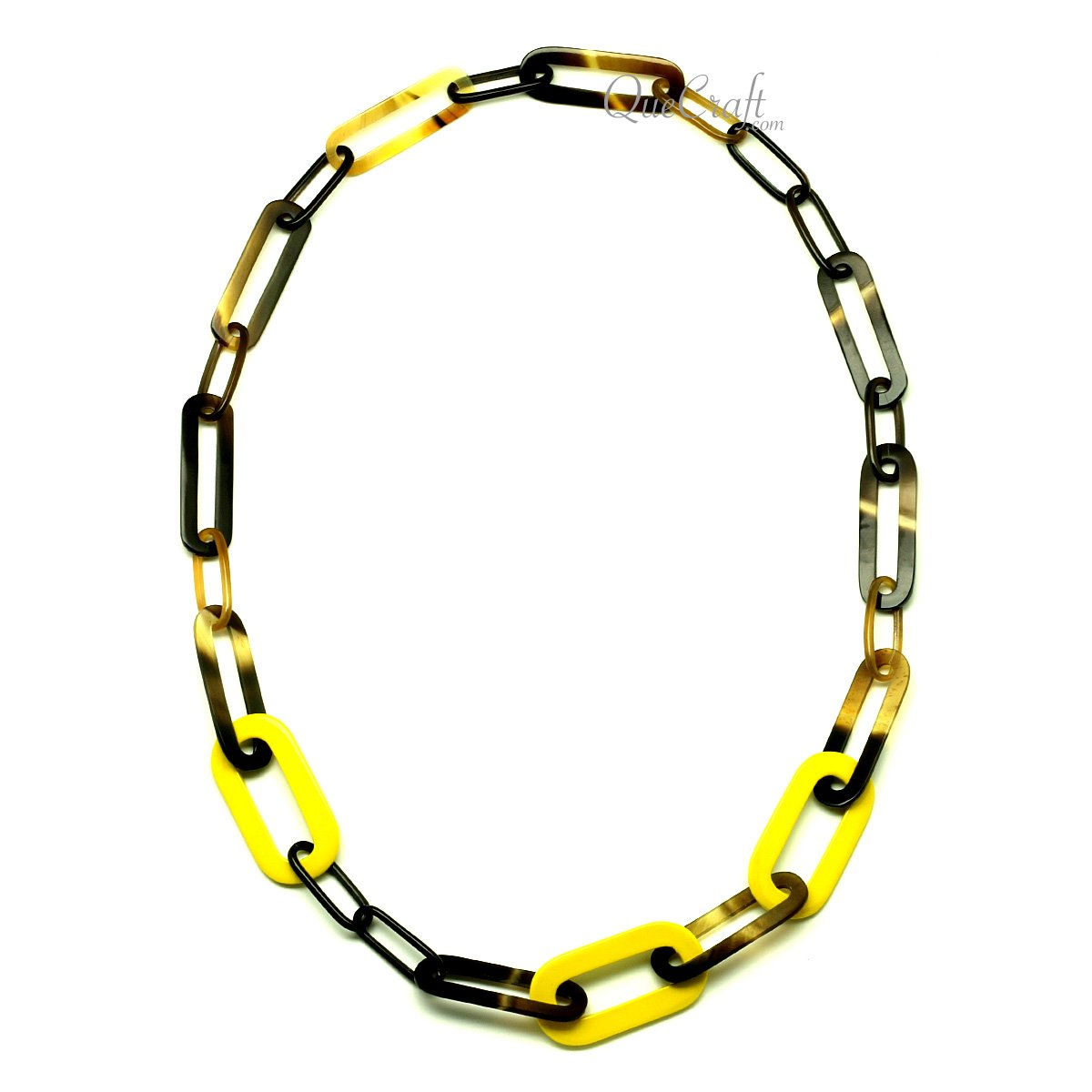 Horn & Lacquer Chain Necklace #13291 - HORN.JEWELRY