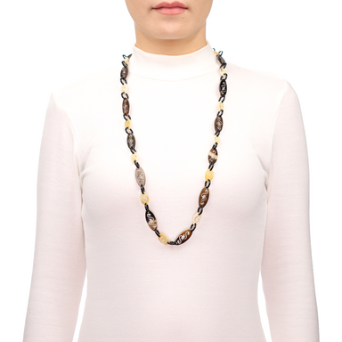 Horn Chain Necklace #13671 - HORN.JEWELRY by QueCraft