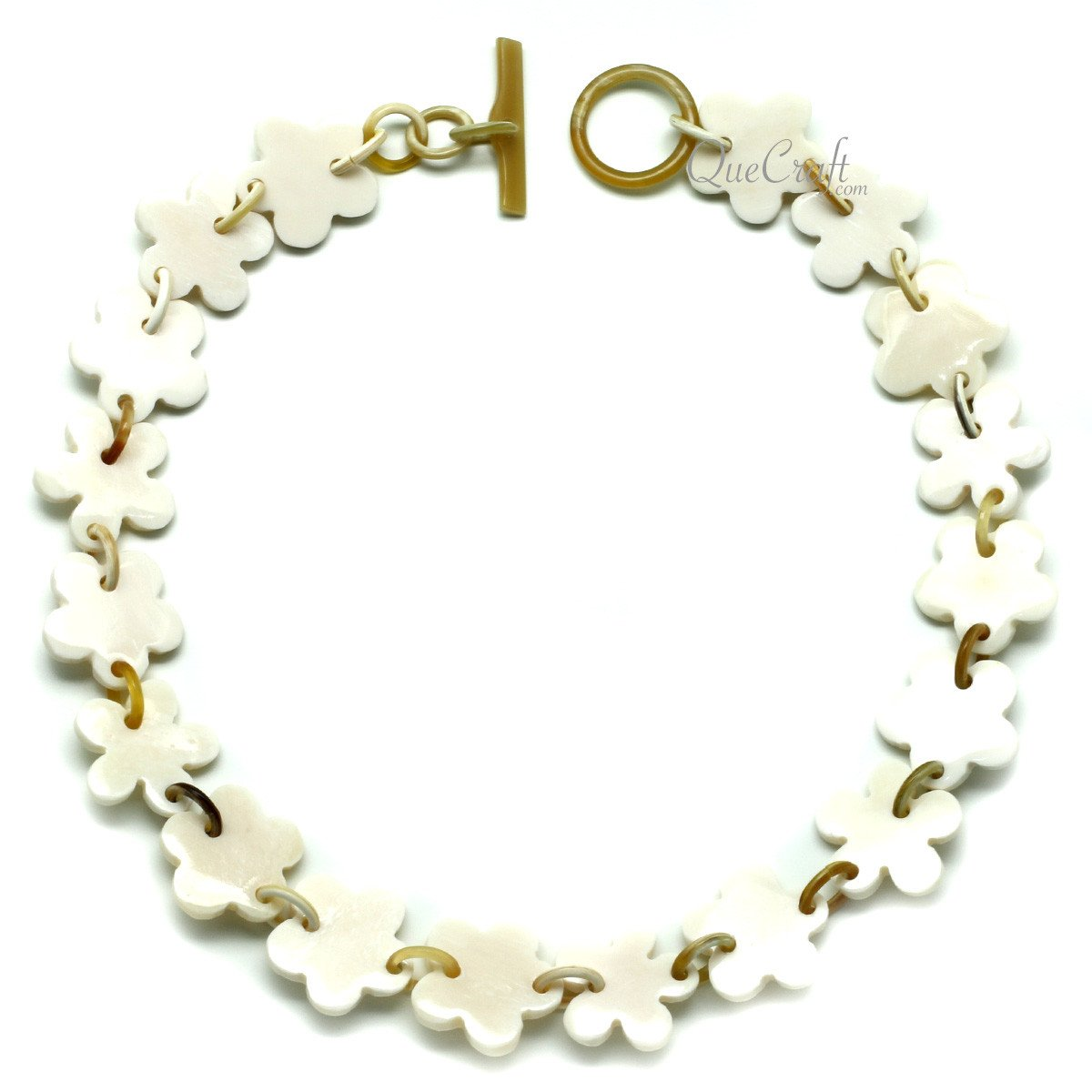 Bone & Horn Chain Necklace #11949 - HORN.JEWELRY by QueCraft