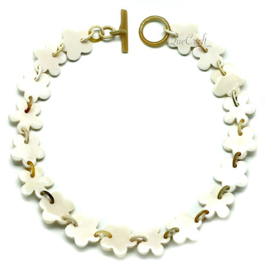 Bone & Horn Chain Necklace #11949 - HORN.JEWELRY