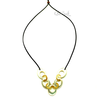 MOP & Horn String Necklace #13108 - HORN.JEWELRY