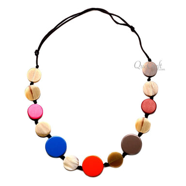Horn & Lacquer String Necklace - Q12698