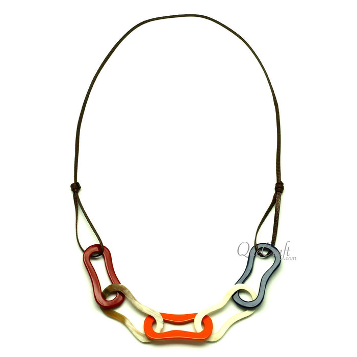 Horn & Lacquer String Necklace #13056 - HORN.JEWELRY
