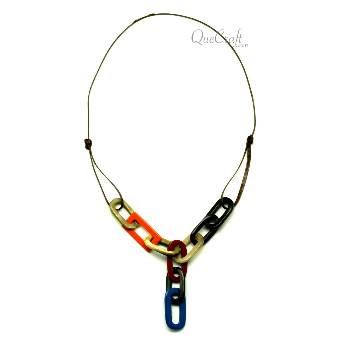 Horn & Lacquer String Necklace #13060 - HORN.JEWELRY