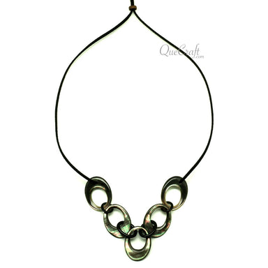 MOP & Horn String Necklace #13075 - HORN.JEWELRY