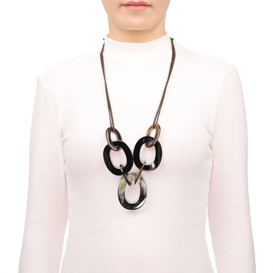 Horn String Necklace #13686 - HORN.JEWELRY by QueCraft