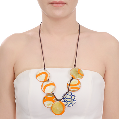 Horn & Lacquer String Necklace #13986 - HORN.JEWELRY