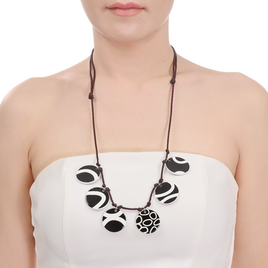 Horn & Lacquer String Necklace #13987 - HORN.JEWELRY