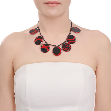 Horn & Lacquer String Necklace #13988 - HORN.JEWELRY