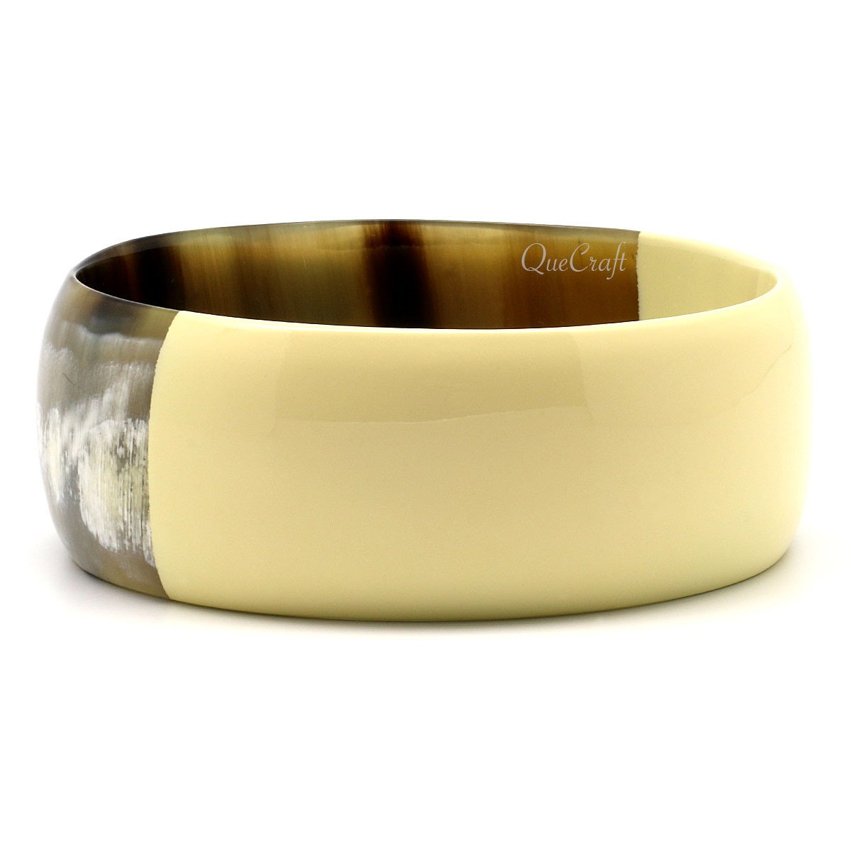 Horn & Lacquer Bangle Bracelet #9623 - HORN.JEWELRY