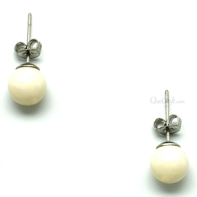 Bone Earrings #11645 - HORN.JEWELRY