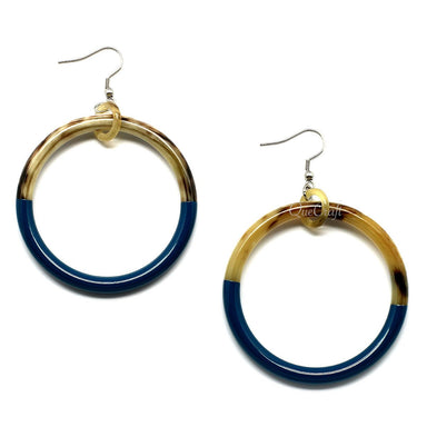 Horn & Lacquer Earrings - Q9777