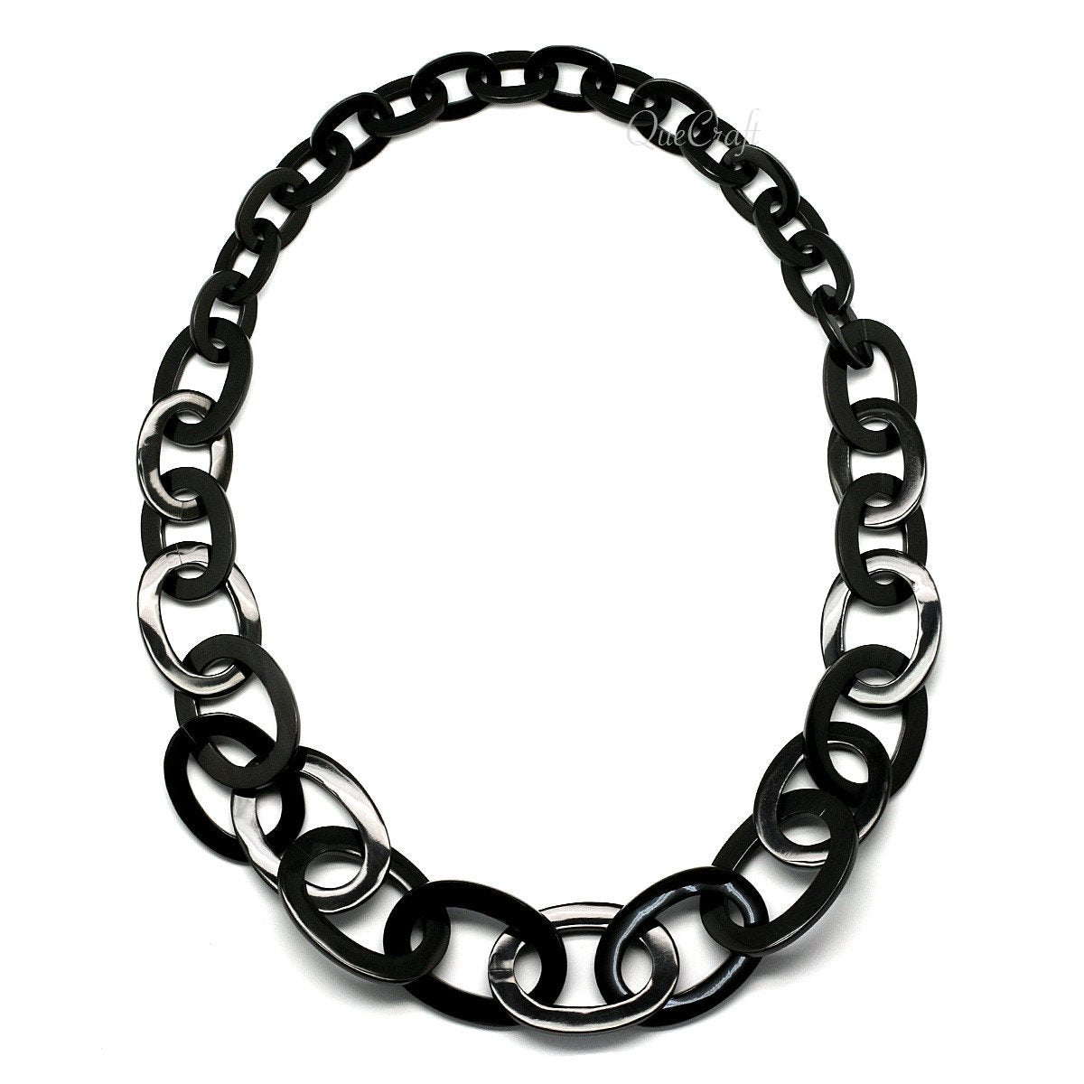 Horn Chain Necklace #10483 - HORN.JEWELRY by QueCraft
